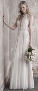 Madison James halter neckline beaded wedding dress