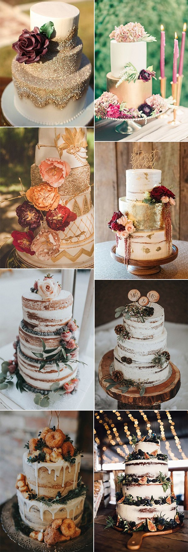chic fall wedding cakes for 2018 trends