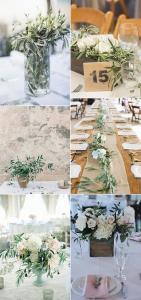 chic olive branch wedding centerpieces ideas