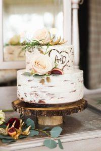 chic rustic fall wedding cake ideas