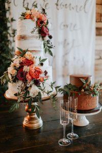 elegant fall wedding cake for 2018