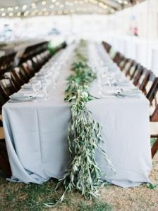 greenery olive branch wedding table setting ideas