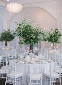 natural greenery olive branch tall wedding centerpiece ideas