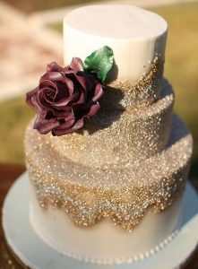 unique fall wedding with glitter gold
