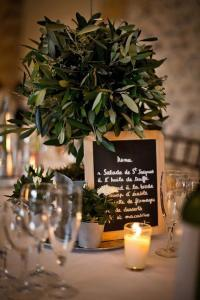 vintage olive branch wedding centerpiece ideas
