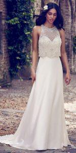 Maggie Sottero sleeveless beaded vintage wedding gown