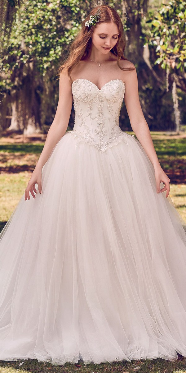 Maggie Sottero sweetheart neckline princess wedding gowns
