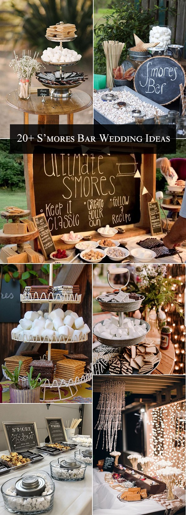 S'mores Bar themed wedding reception ideas for 2018 trends