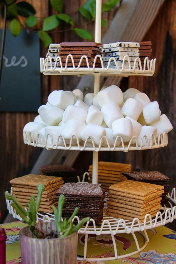 S'mores Bar wedding dessert ideas