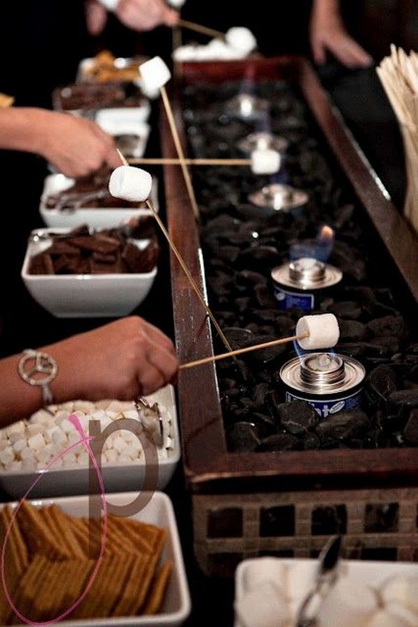 S'mores Bar wedding reception ideas