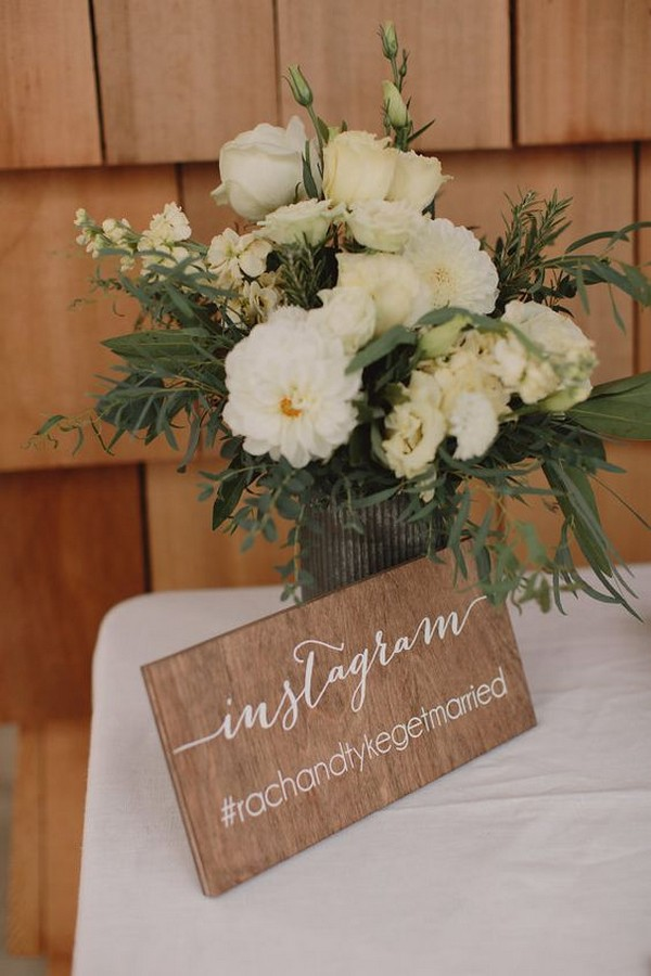 chic instagram wedding hashtag sign ideas