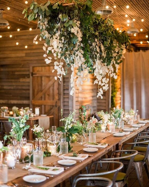 Flowers Wedding Ideas: 20 Amazing Hanging Greenery Floral Wedding Decorations For