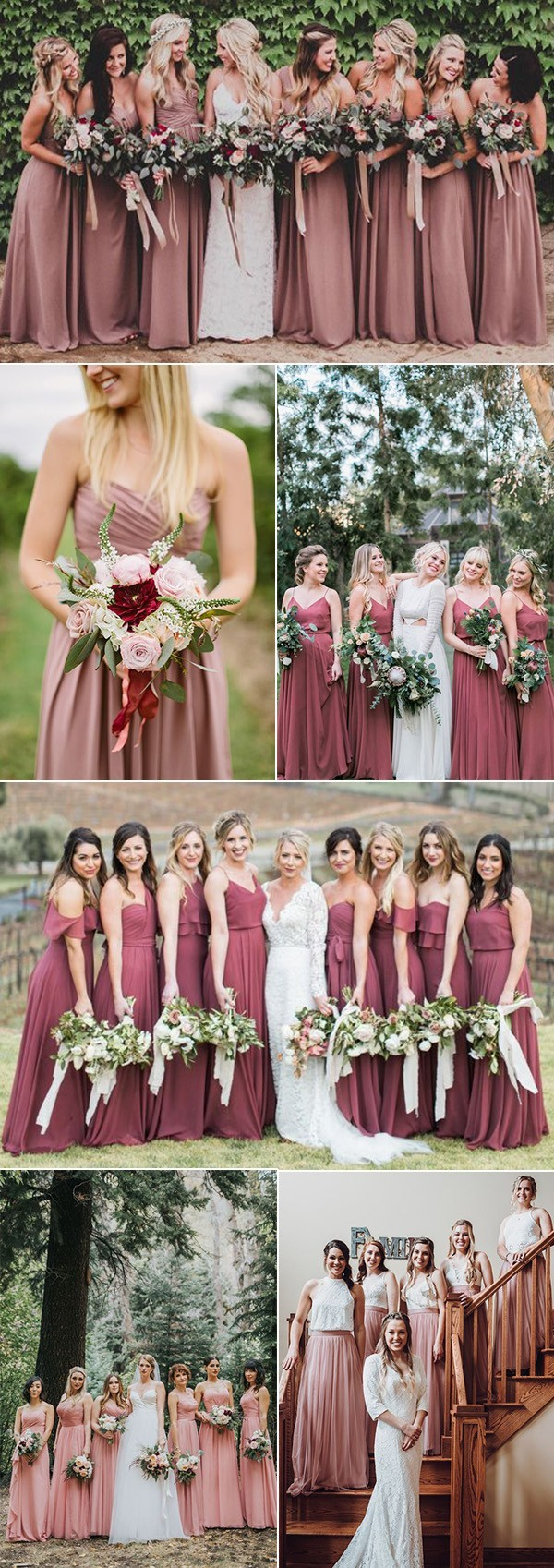 dusty rose bridesmaid dresses fro 2018