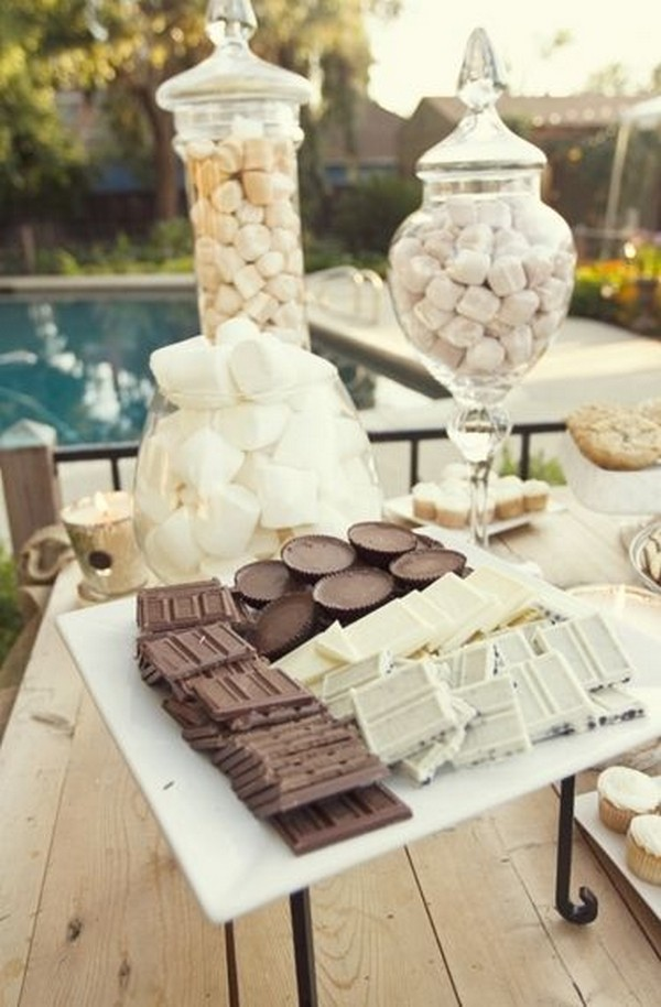 outdoor wedding S'mores station ideas