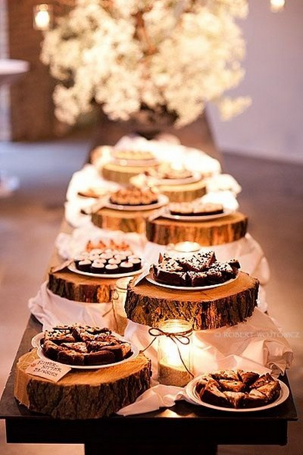 rustic S'mores Bar wedding dessert display ideas