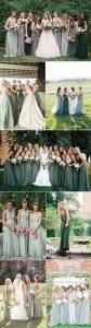 shades of green trending bridesmaid dresses