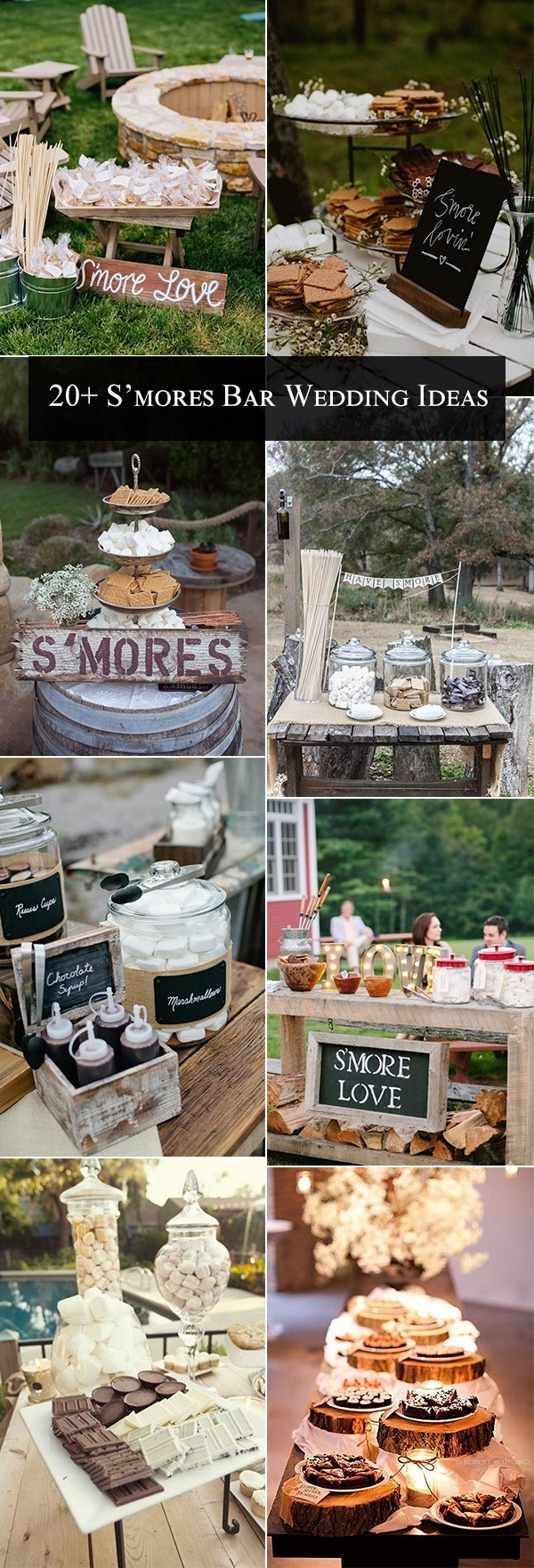 trending S'mores Bar Wedding Ideas for fall and winter weddings