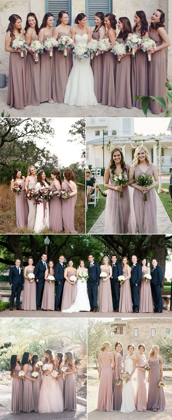 trending mauve bridesmaid dresses
