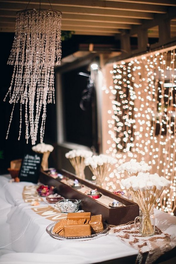 wedding reception dessert display ideas inspired by S'mores Bar