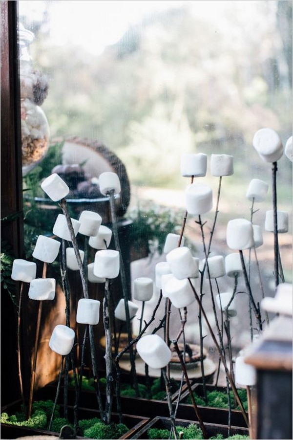 woodland themed wedding S'mores Bar ideas