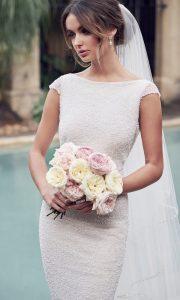 Anna Campbell Blair beaded wedding dress with cap sleeves