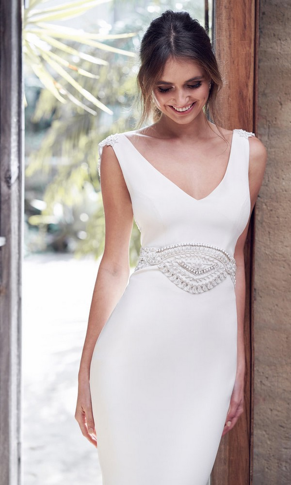 Anna Campbell Blake sleek and chic bridal gown
