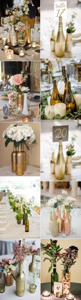 20 Creative DIY Wine Bottle Wedding Centerpieces for Your Big Day Oh Best Day Ever