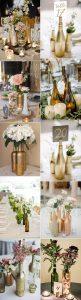 creative diy wine bottles wedding centerpieces
