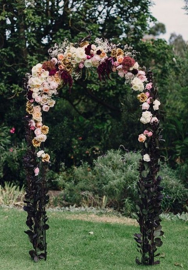 fall wedding arch decoration ideas