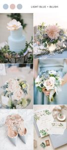 light blue and blush pink wedding colors for spring summer 2019