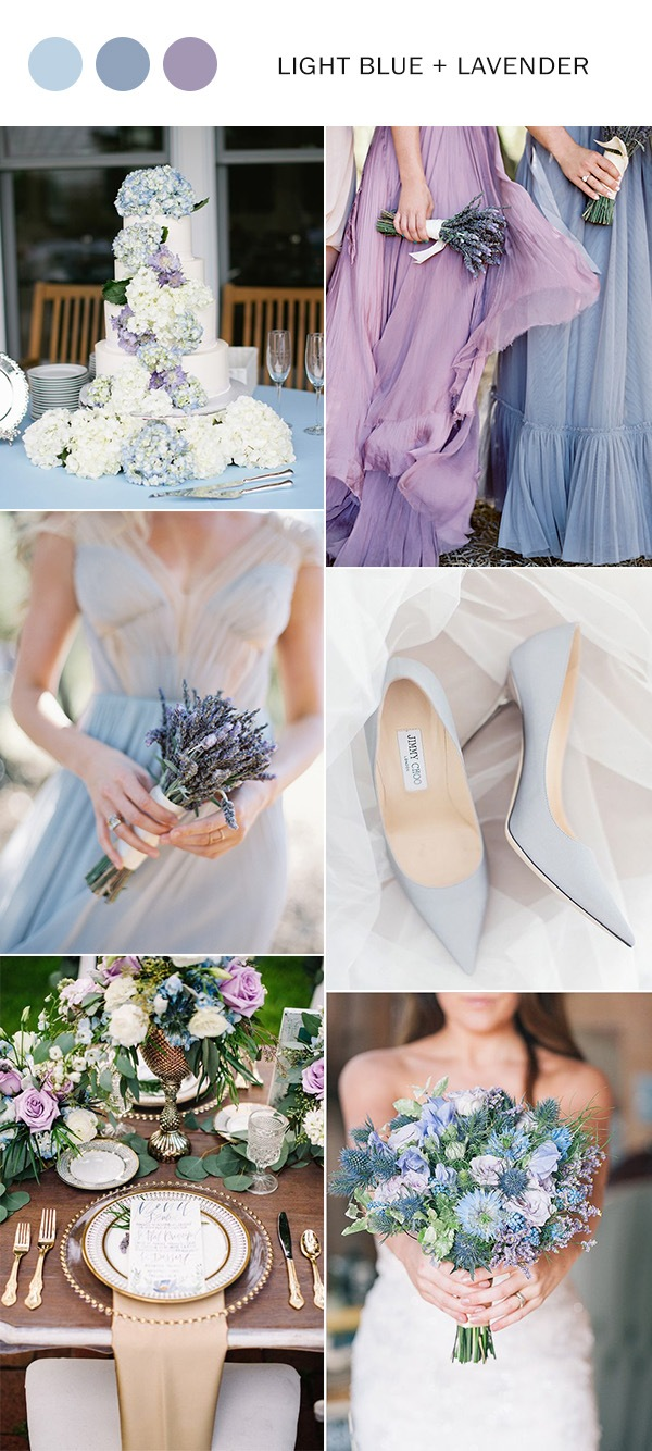 light blue and lavender wedding color ideas