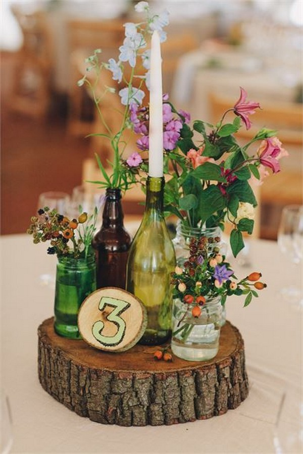 20 Creative Diy Wine Bottle Wedding Centerpieces For Your