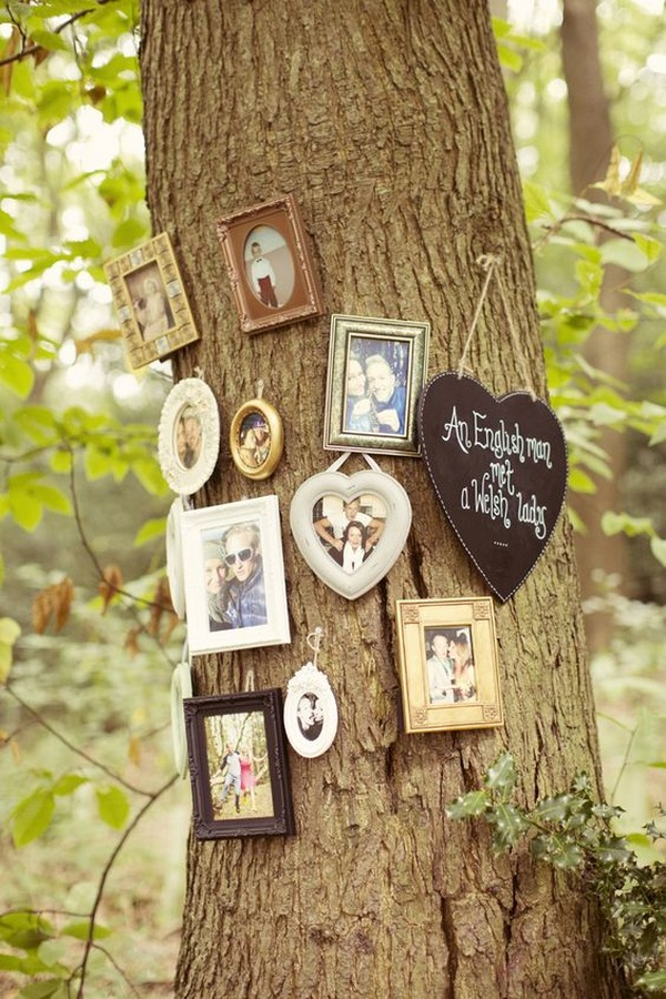 photo tree album for whimsical woodland ideas