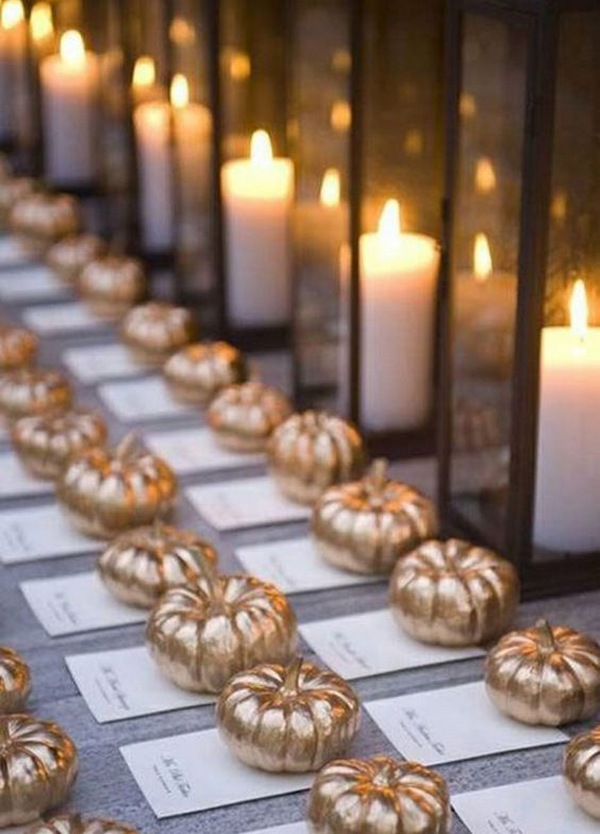 pumpkin inspired fall wedding ideas