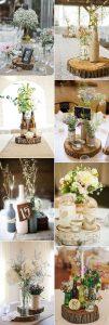 rustic chic wine bottles wedding centerpiece ideas
