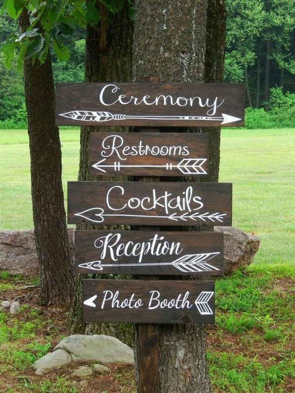 rustic wedding signs for woodland themed weddings