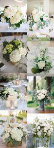 trending hydrangea and eucalyptus wedding centerpiece ideas
