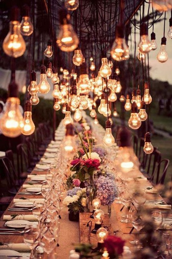 wedding reception decoration ideas with lights