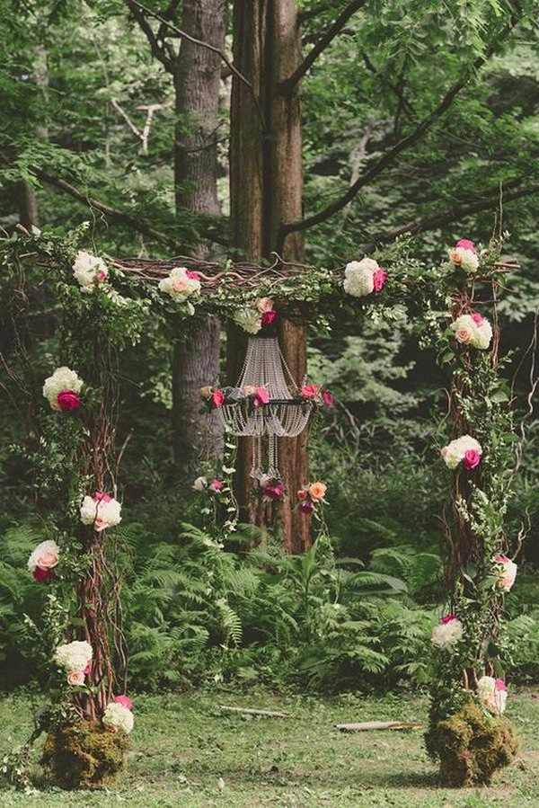 whimsical woodland wedding arch ideas