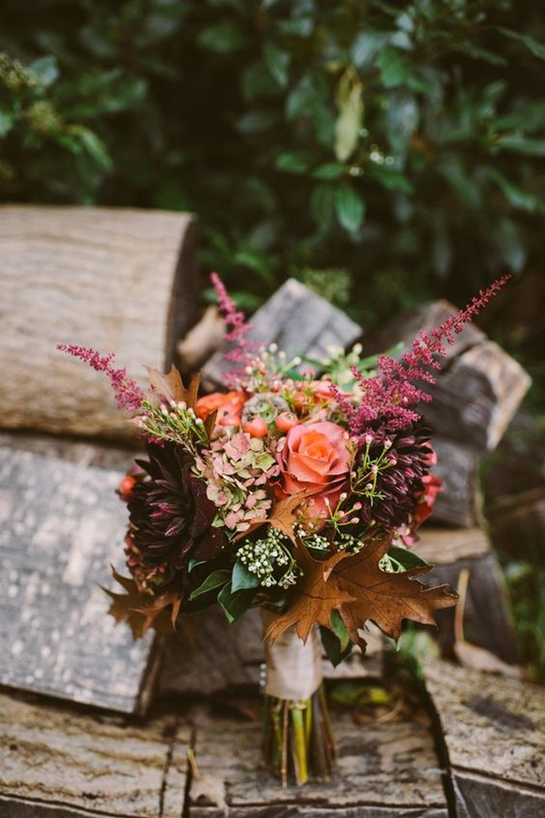 woodland boho wedding bouquet ideas