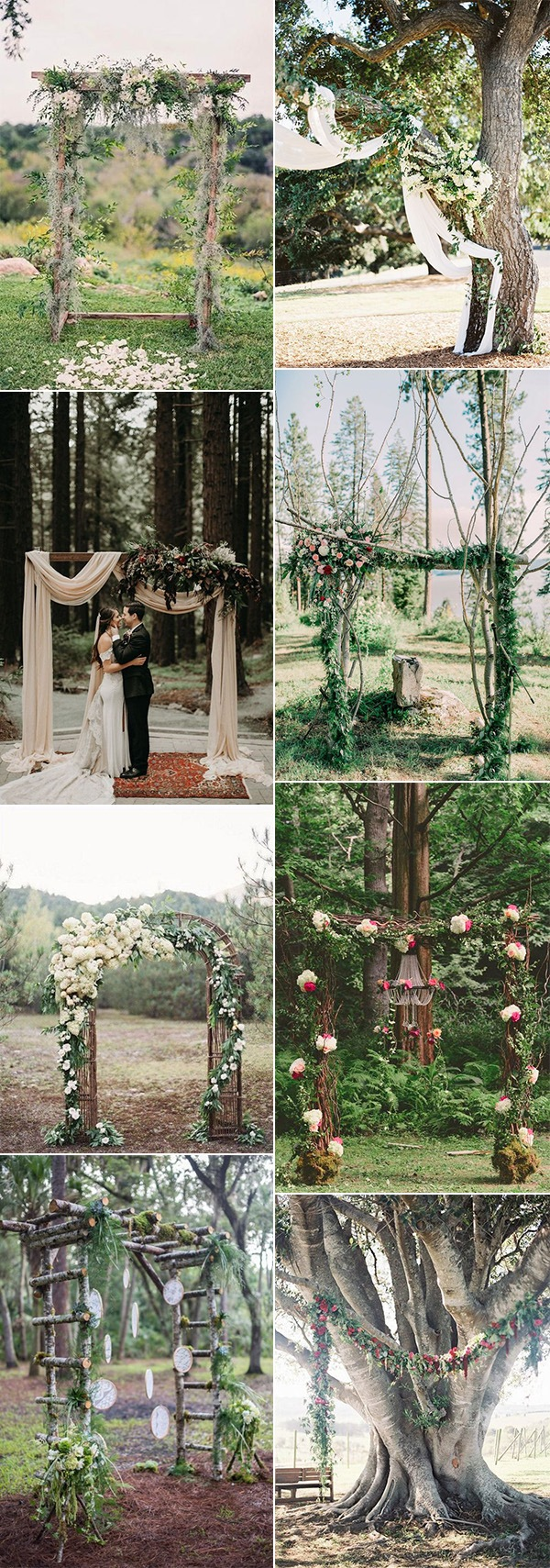 woodland forest themed wedding arch ideas