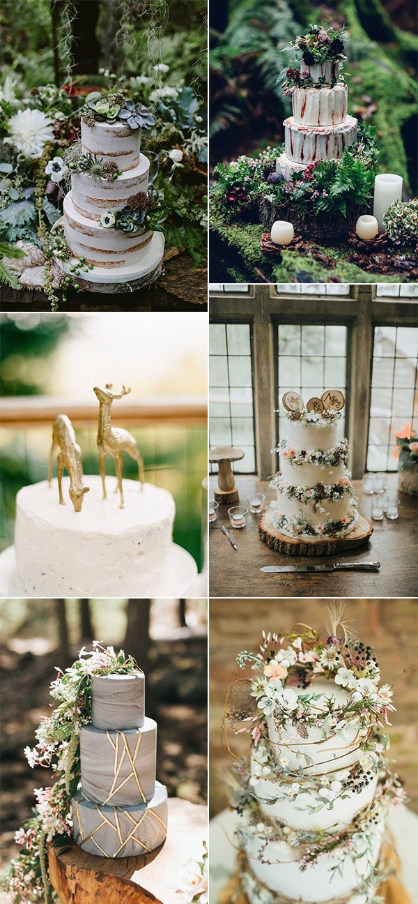 woodland themed wedding cake ideas