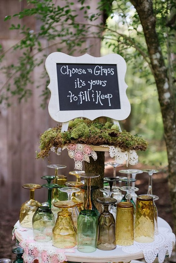 woodland themed wedding decoration ideas