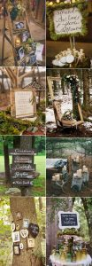 woodland themed wedding decorations ideas