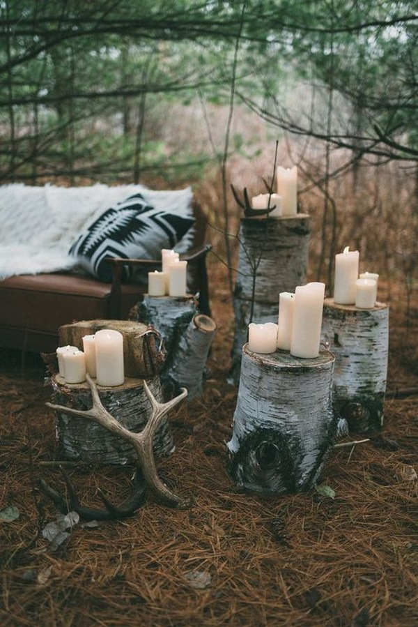 woodland themed wedding decorations