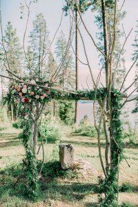 woodland wedding arch decoration ideas