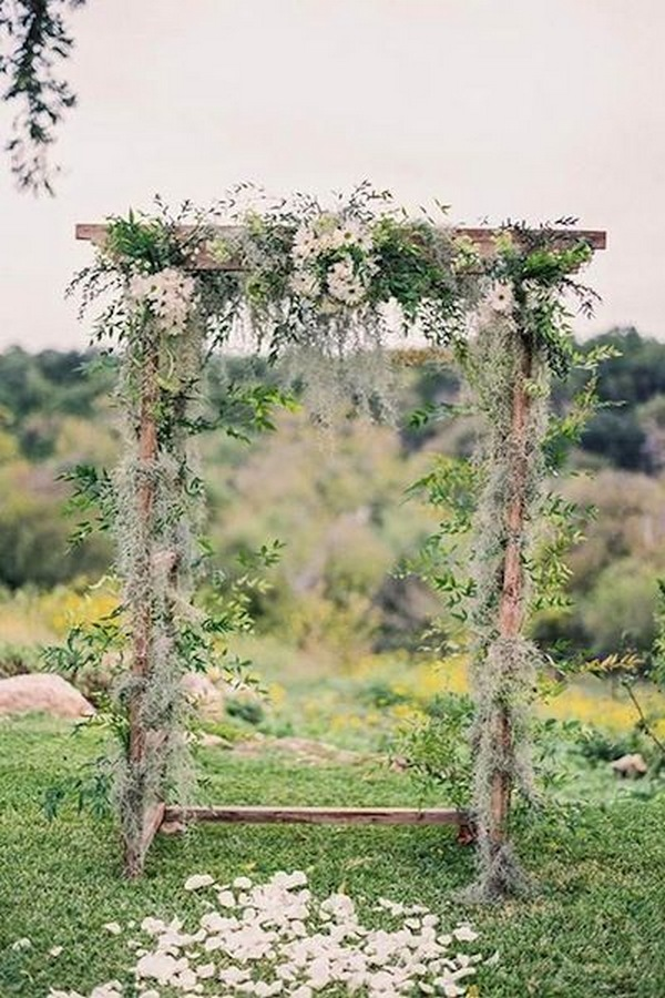 woodland wedding arch ideas