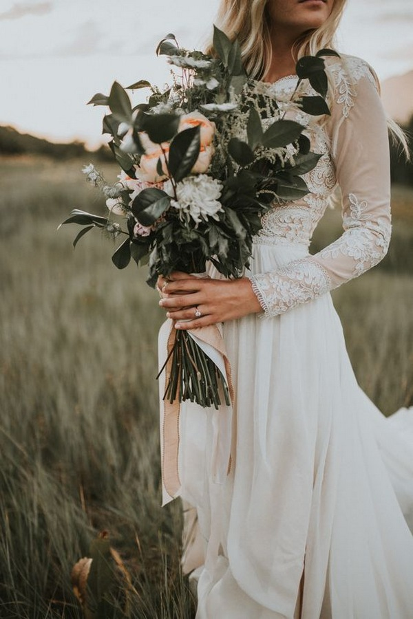 woodland wedding bouquet ideas