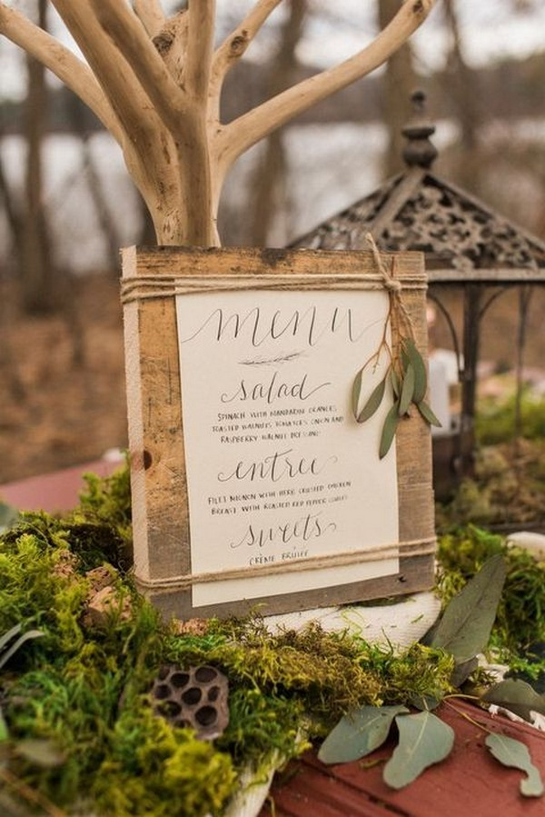 woodland wedding decoration ideas