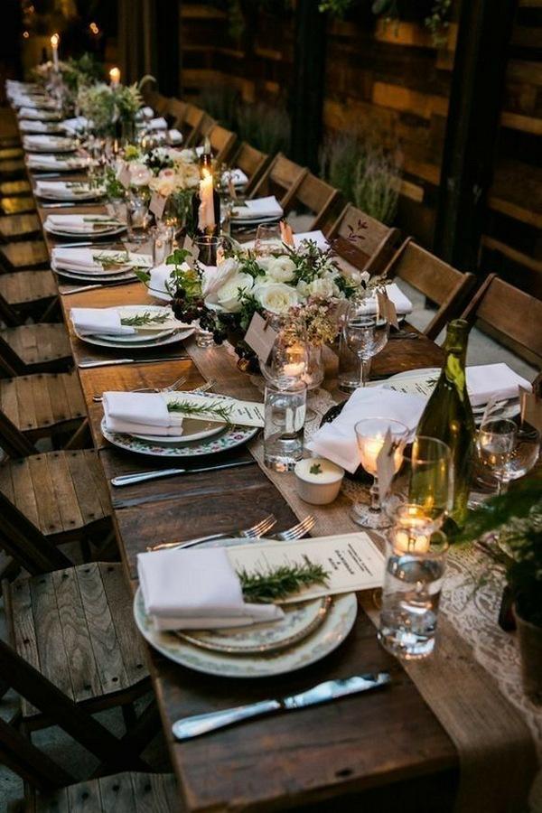 woodland wedding reception decoration ideas